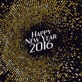 Golden radial pattern New Year background. stock illustration