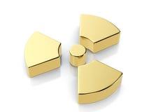 Golden radiation symbol Royalty Free Stock Photo