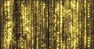 Free Golden Rain, Gold Glitter Particles, Magic Light Sparks Curtain. Glowing Glittering Christmas Background, Shiny Sparkling And Stock Images - 159873044