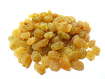 Golden Raisins. Raisins are dried form of grapes after proper processing Stock Photo