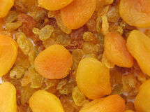 Golden Raisins and Apricots Royalty Free Stock Photography