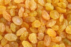 Golden raisins background Stock Photos