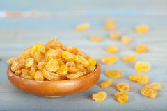 Golden raisins or dried grapes Royalty Free Stock Photography