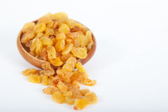 Golden raisins or dried grapes Royalty Free Stock Photo