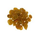 Golden raisins. Isolated on white background Stock Photography