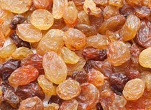 Golden Raisins orange texture macro Royalty Free Stock Photography