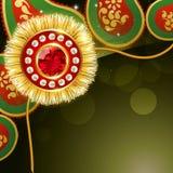 Golden rakhi design Royalty Free Stock Photo