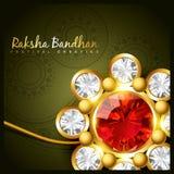 Golden rakhi for rakshabandhan Royalty Free Stock Photography