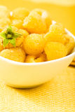 Golden Raspberries Stock Photo