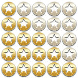 Golden rating stars Stock Photos