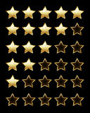 Golden rating stars Stock Images