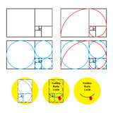 Golden ratio 1.618 check Royalty Free Stock Photo