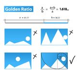 Golden Ratio,Golden Proportion Stock Photography