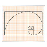 Golden Ratio. Graph paper with golden ratio royalty free illustration