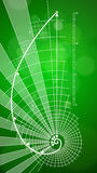 Golden Ratio & green background Royalty Free Stock Photo