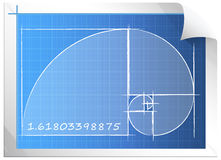 Golden Ratio - Illustration Royalty Free Stock Image
