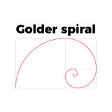 Golden ratio section Royalty Free Stock Image