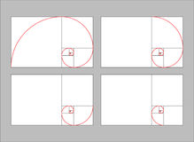 Golden ratio section Stock Image