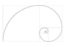 Golden ratio template vector Royalty Free Stock Image