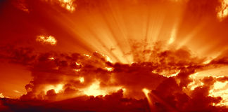 Golden rays royalty free stock images
