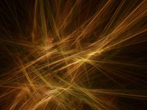 Golden rays. Abstract background: golden rays; computer generated fractal design Stock Photography