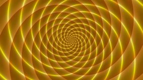 Golden rays. Animated abstract illustration of bright yellow orange spirals rotating on white background. Colorful animation, seam stock video footage