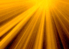 Golden rays of sun Stock Image
