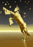 Golden rearing horse - 3D render Stock Photo