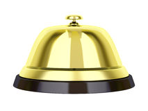 Golden reception bell Royalty Free Stock Photos