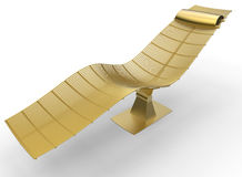 Golden recliner chair Stock Photography