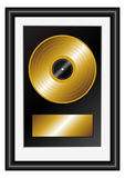 Golden record Royalty Free Stock Photography