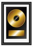 Golden record royalty free illustration