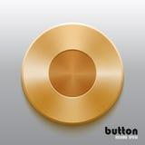 Golden record button Stock Photos