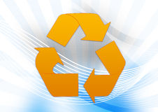 Golden Recycle Royalty Free Stock Images