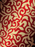 Golden and red background Stock Images
