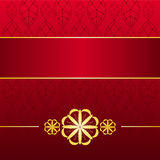 Golden Red Card. Royal red & gold background Stock Images