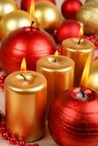 Golden and red christmas Royalty Free Stock Photo