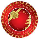 Golden and red christmas vector cards Stock Image