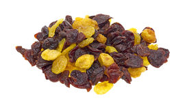 Golden and red dried sweet cherries Stock Images