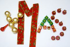 Golden, Red and Green XMas Royalty Free Stock Photography