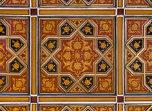 Golden and Red Islamic Persian Motif on the Ceiling Royalty Free Stock Photo