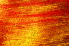 Golden and red paint  background Royalty Free Stock Photo