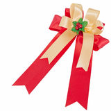 Golden and red ribbon Royalty Free Stock Images