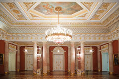 Golden with red room of State historical museum Royalty Free Stock Images