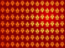 Golden red royal pattern Stock Photography