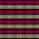 Golden and red seamless lace ribbon trim pattern background Royalty Free Stock Image
