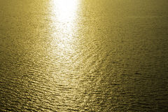 Golden reflection of sunlight Royalty Free Stock Photos