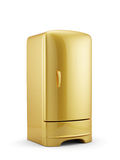 Golden refrigerator  Stock Photo