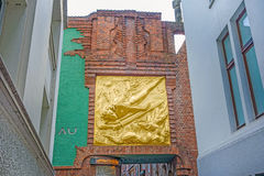 Golden relief, Boettcherstrasse, Bremen Royalty Free Stock Images
