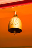 Golden religion bell. Architecture building Royalty Free Stock Photography